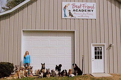 Best Friend Academy barn with dog group