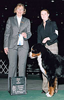 Heather with dog nd judge at show