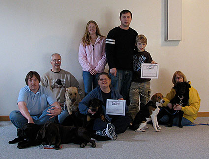 Dog training classroom group